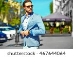 high fashion look.young stylish ... | Shutterstock . vector #467644064