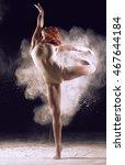 dancer performing over black... | Shutterstock . vector #467644184