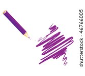 purple handwritten star  vector ... | Shutterstock .eps vector #46766005