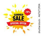 summer sale banner | Shutterstock .eps vector #467671904