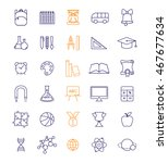 outline icon collection  ... | Shutterstock .eps vector #467677634