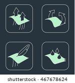 garment properties icons.... | Shutterstock .eps vector #467678624