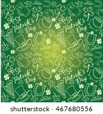 st patrick's day icons drawing... | Shutterstock .eps vector #467680556