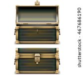 vector old chest | Shutterstock .eps vector #467686190