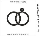 vector wedding rings icon. only ... | Shutterstock .eps vector #467686973