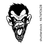 mad angry bad chimp ape monkey... | Shutterstock .eps vector #467692628