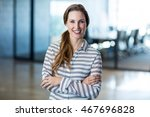 portrait of smiling woman... | Shutterstock . vector #467696828