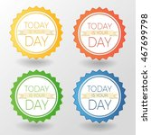 vector colorful stickers set.... | Shutterstock .eps vector #467699798