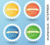 vector colorful stickers set.... | Shutterstock .eps vector #467699804