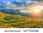 wonderful view to mountains in... | Shutterstock . vector #467704088