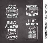 collection of quote... | Shutterstock .eps vector #467704790