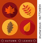 set of autumn icons  with maple ... | Shutterstock .eps vector #467724854