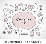 speech bubble  contact us icons ...   Shutterstock .eps vector #467730359
