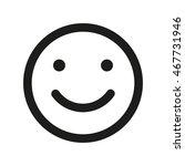 smile face vector icon. emoji... | Shutterstock .eps vector #467731946