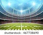 imaginary stadium 3d  | Shutterstock . vector #467738690
