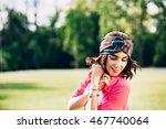 closeup portrait  of pretty... | Shutterstock . vector #467740064