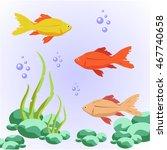 fish  seaweed    Shutterstock .eps vector #467740658