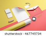 branding stationery mockup... | Shutterstock . vector #467745734