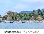 italian old town rapallo sea... | Shutterstock . vector #467749214