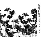 imprints silhouettes of meadow... | Shutterstock . vector #467754788