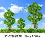 dollar signs made of grass as... | Shutterstock . vector #467757089