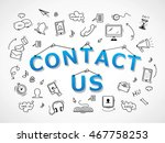contact us icons set   isolated ...   Shutterstock .eps vector #467758253