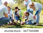 volunteering  charity  people... | Shutterstock . vector #467760488