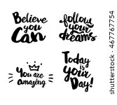 fun lifestyle quotes typography.... | Shutterstock .eps vector #467767754