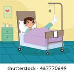 an injured young boy in the... | Shutterstock .eps vector #467770649