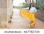 mexican woman with cultural...   Shutterstock . vector #467782724