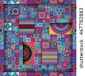 colorful vintage seamless... | Shutterstock .eps vector #467782883