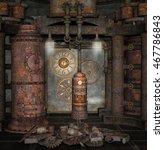 steampunk boiler room   3d... | Shutterstock . vector #467786843