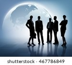 global business. composition of ... | Shutterstock . vector #467786849