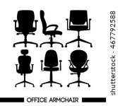 black modern office armchair... | Shutterstock .eps vector #467792588