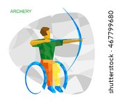 physically disabled archer in... | Shutterstock .eps vector #467799680