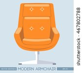 orange modern armchair over...