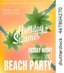 beach party background. vector... | Shutterstock .eps vector #467804270