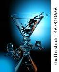 ice splash. 3d rendering. | Shutterstock . vector #467810666