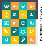 human resources icons set  hr ... | Shutterstock .eps vector #467810819