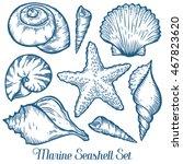 seashell  sea shell  starfish... | Shutterstock .eps vector #467823620