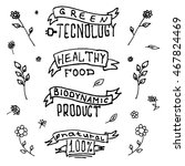 eco friendly labels. set of... | Shutterstock .eps vector #467824469