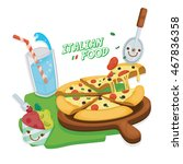 italian cuisine.pizza margarita ... | Shutterstock .eps vector #467836358