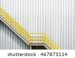 the yellow stair for fire... | Shutterstock . vector #467873114