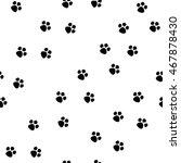 black footprint seamless... | Shutterstock .eps vector #467878430