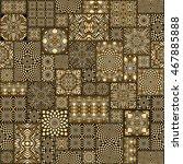 vector seamless patchwork... | Shutterstock .eps vector #467885888