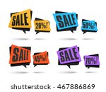 set of creative sale and... | Shutterstock .eps vector #467886869