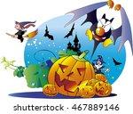 halloween night | Shutterstock .eps vector #467889146