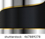 metal gold template and... | Shutterstock .eps vector #467889278