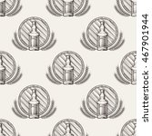 whisky seamless pattern with... | Shutterstock .eps vector #467901944