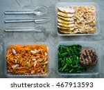 food in plastic boxes  daily... | Shutterstock . vector #467913593